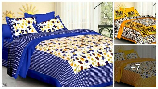 Jaipuri Pure Cotton Double Bedsheets