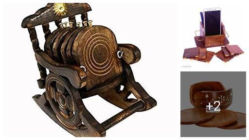Wooden Hut Shaped Tea Coaster