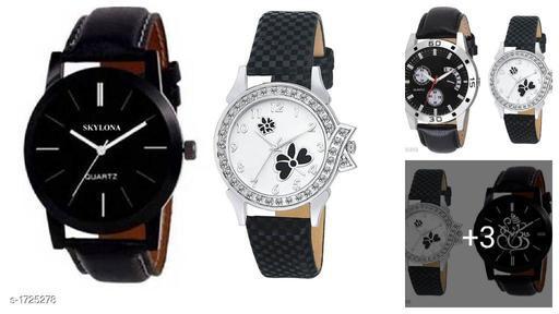 Stylish Analog Watches (Pack Of 2)