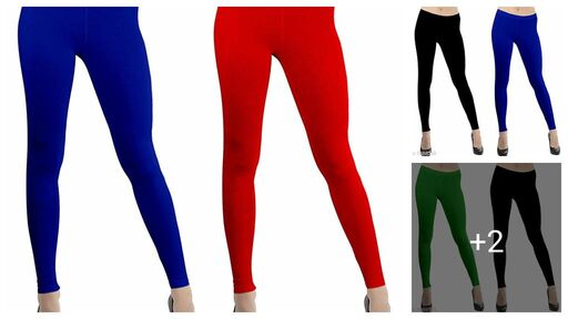 Comfy Cotton, Viscose & Spandex Leggings (Pack Of 2)