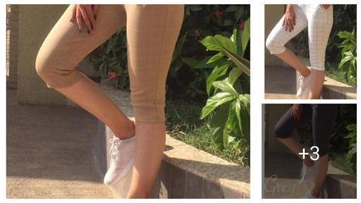 Classy Cotton Lycra Women's Crop Pant