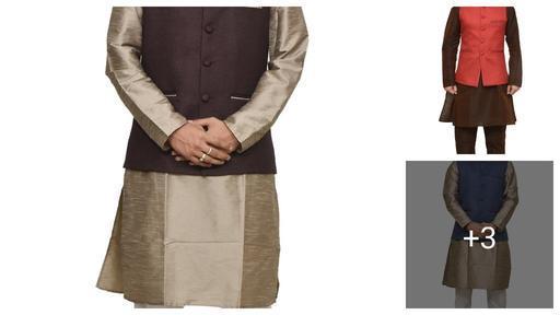 Ethnic Banarasi  Dupion Silk Men's Kurta Sets