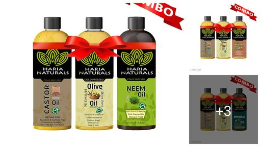 Useful Haria Natural Hair Oil Combo