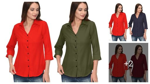 Attractive Solid Women's Shirt (Pack Of 2 )