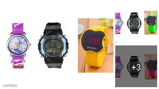 Trendy Rubber Digital Kid's Watches Combo(Pack of 3)