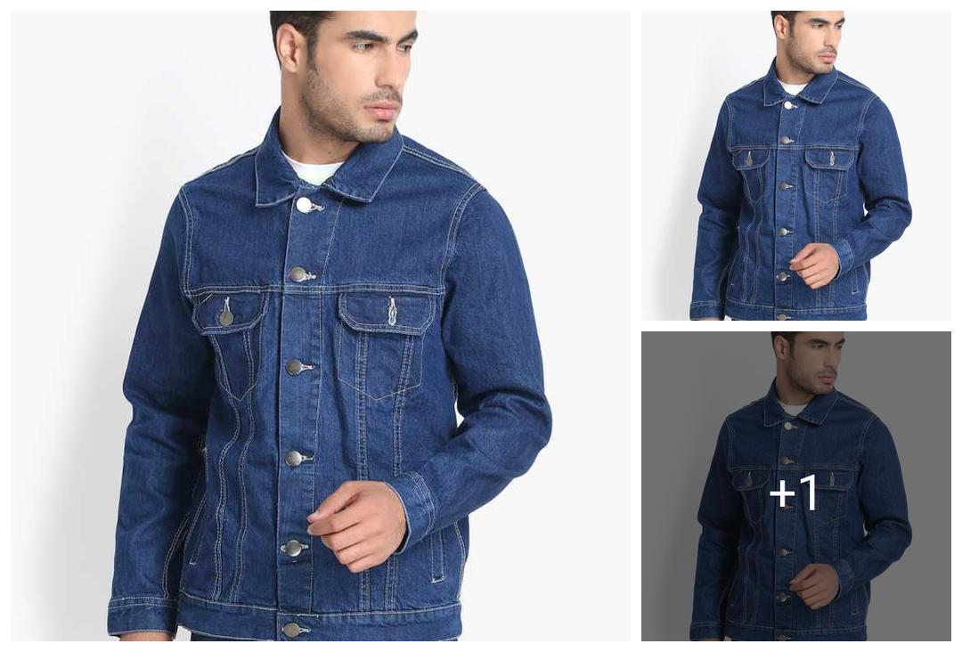 Trendy Attractive Cotton Blend / Denim Men's Jackets Vol 6