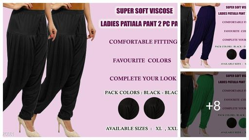 Fabulous Viscose Women's Patiala  Pant Combo