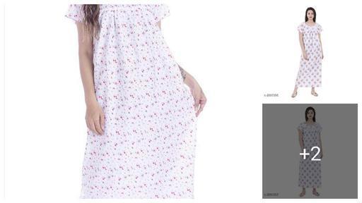 Comfy Women's Cotton Printed Night Dress