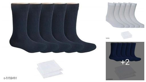 Beautiful Men's Socks With Handkercheif Combo