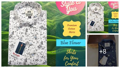 Stylish 100% Pure Cotton  Men's Shirt