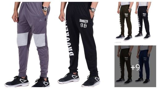 Trendy Poly Cotton Men's Track Pants Combo