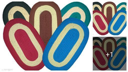 Trendy Polyester Doormats Combo