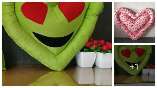 Attractive Velvet Heart Shaped Cushions