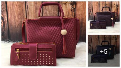 Diva Attractive Pu Leather Women's Handbag And Wallet