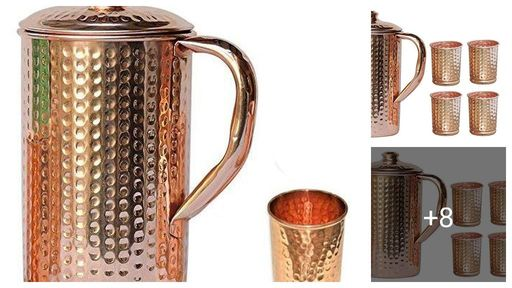 Classic Copper Jug & Glasses