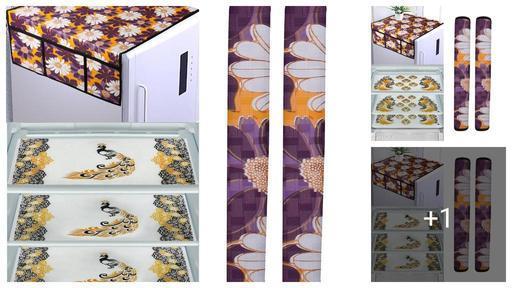 Stylish Pvc Fridge Covers Sets Combo