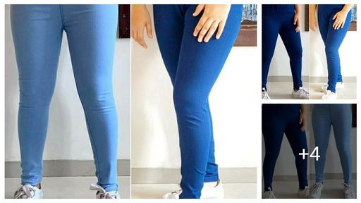 Fashionable Denim Solid Jeggings(Pack Of 2)