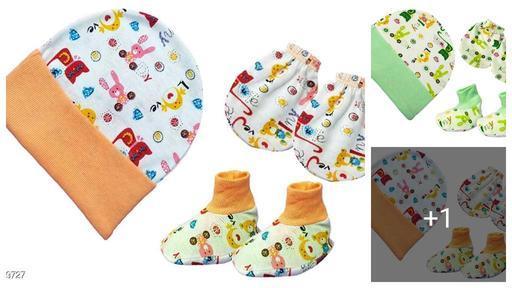Stylish Baby Unisex Kids Cotton Caps  Set