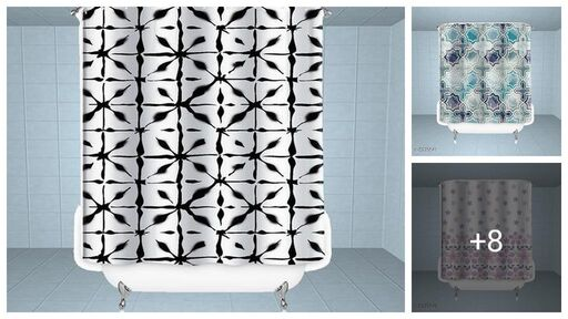 Stylish Polyester Shower Curtains