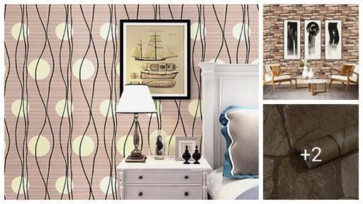 Fabulous Vinyl Golden Bricks Decorative Wallpaper