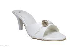 CANVI Women White Heels