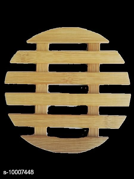 2 Piece Wooden Coasters or Pan Pot Holder Heat Insulation Pad