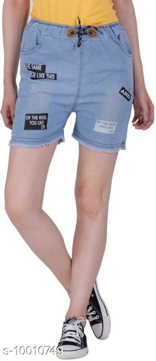 Shorts Beautifull Single Short  *Fabric* Denim  *Sizes*   *28 (Waist Size* 15 in, Length Size  *Sizes Available* 28 *    Catalog Name: Casual Feminine Women Shorts CatalogID_1788198 C79-SC1038 Code: 192-10010749-