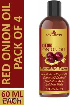Herbal Products Bon Austin Red Onion Oil- For Hair Regrowth & Anti Hair Fall Combo pack of 4 bottles of 60 ml(240 ml) Hair Oil (240 ml)  *Product Name* Bon Austin Red Onion Oil- For Hair Regrowth & Anti Hair Fall Combo pack of 4 bottles of 60 ml(240 ml) Hair Oil (240 ml)  *Multipack* 1  *Flavour* Onion  *Sizes Available* Free Size *    Catalog Name:  Advanced Hydrating Herbal Oil CatalogID_1789243 C50-SC1297 Code: 354-10014995-
