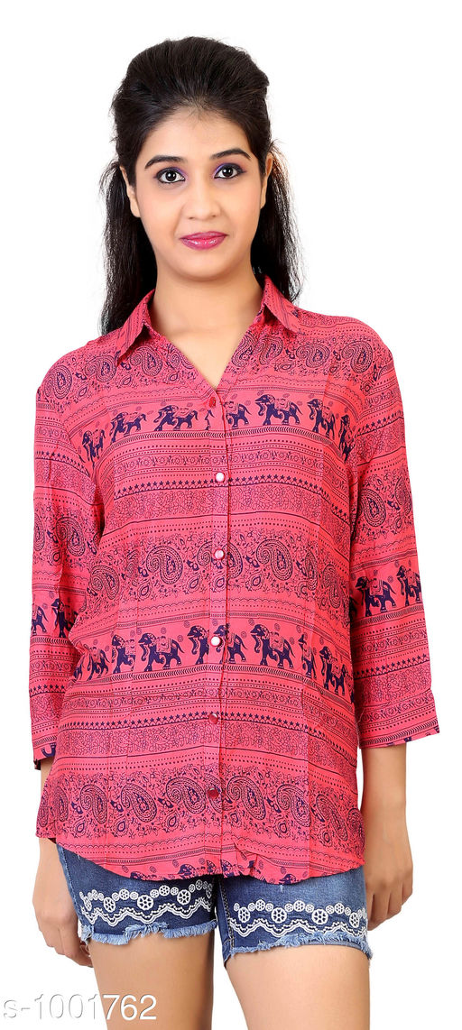 Expressive Style Georgette Printed Women's Shirt
