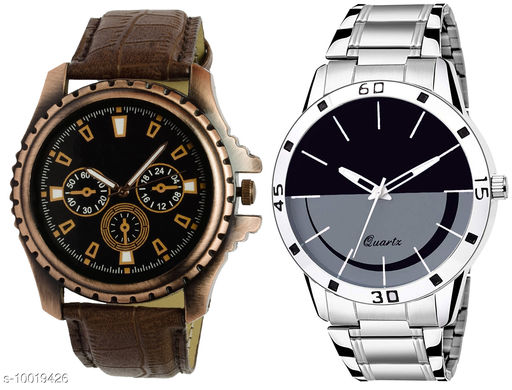 K1 & K59 Pack of 2 Combo Attractive New Unique And Exclusive New Analog Watches For Men & Men