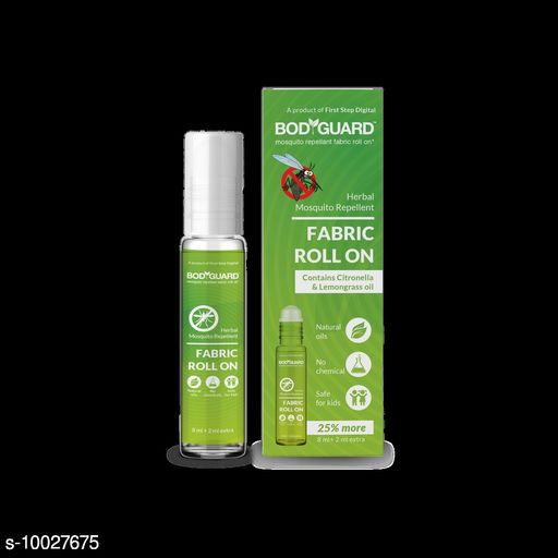 BodyGuard Herbal Fabric Roll On - 8 ml + 2 ml Extra, Protect  your family from mosquitoes