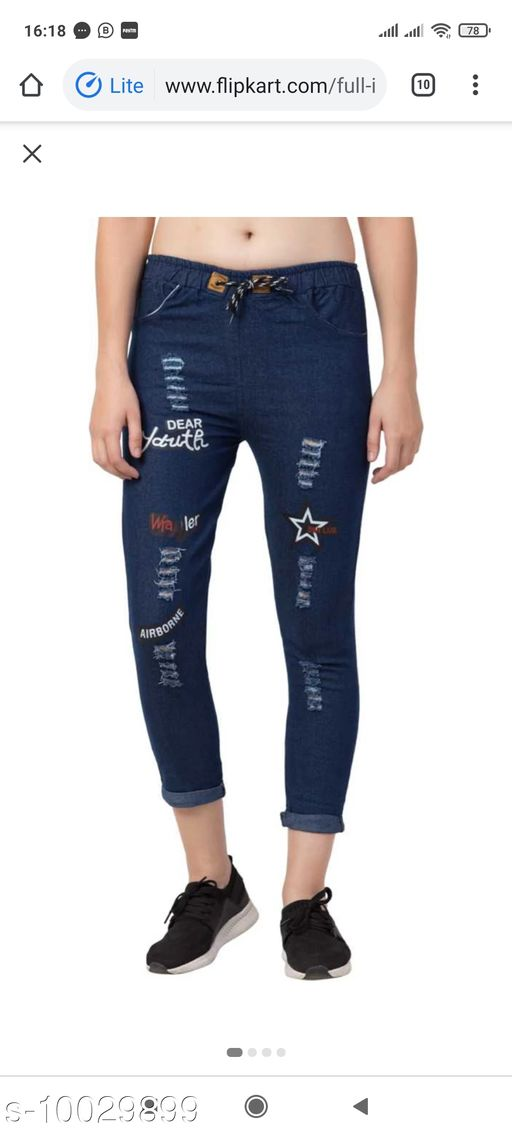 Jeans Classic Ravishing Women Jeans Fabric: Denim Multipack: 1 Sizes: 26 (Waist Size: 28 in Length Size: 30 in)  28 (Waist Size: 26 in Length Size: 30 in)  30 (Waist Size: 30 in Length Size: 30 in) Country of Origin: India Sizes Available: 26, 28, 30 *Proof of Safe Delivery! Click to know on Safety Standards of Delivery Partners- https://ltl.sh/y_nZrAV3  Catalog Rating: ★3.1 (19)  Catalog Name: Classic Fabulous Women Jeans CatalogID_1792758 C79-SC1032 Code: 804-10029899-