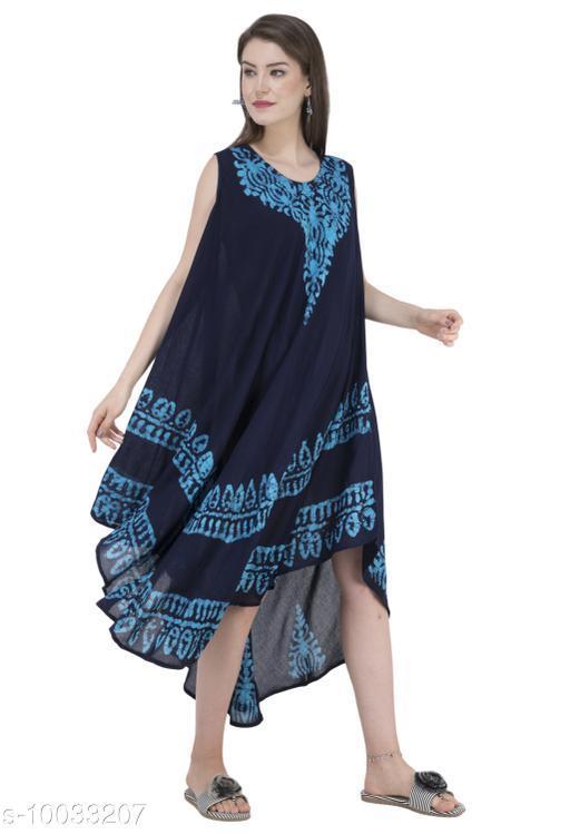 SAAKAA Women's Cotton Blue Dress