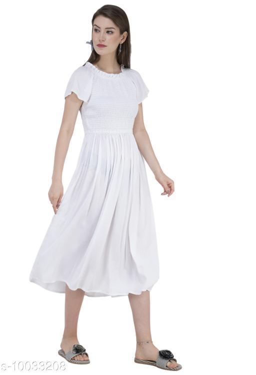SAAKAA Women's Cotton Off White Dress