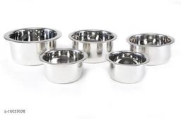 stainless steel tope set of 5  Tope Set  (Stainless Steel)