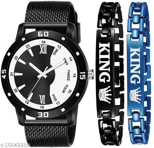 K4 & K147 Pack of 2 Attractive New Unique And Exclusive New Analog Watches For Men & Men