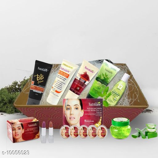 Gifting at 99 NutriGlow Premature Ageing Advanced Meta Gift Hamper  *Material* Plastic  *Brand* NutriGlow  *Type * Make Up Combo  *Capacity * 733 gm  *Multipack* 5  *Sizes Available* Free Size *    Catalog Name:   Gifting at 99 CatalogID_1798764 C51-SC1519 Code: 077-10056023-