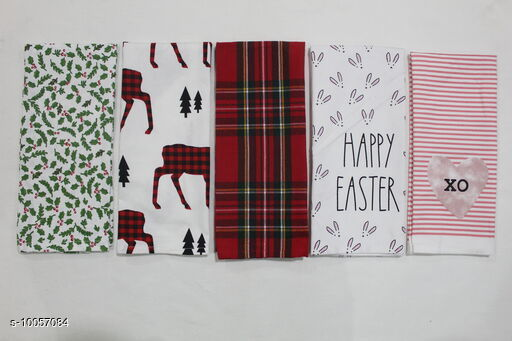 Towel 100% Cotton Kitchen Towel    *Material* Cotton  *Multipack* 5  *Sizes*  Free Size  *Sizes Available* Free Size *    Catalog Name: 100% Cotton Kitchen Towel   CatalogID_1799051 C129-SC1634 Code: 121-10057084-