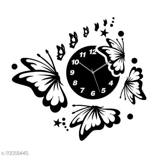 Trendy Butterfly Designer  Acrylic Wall Clock
