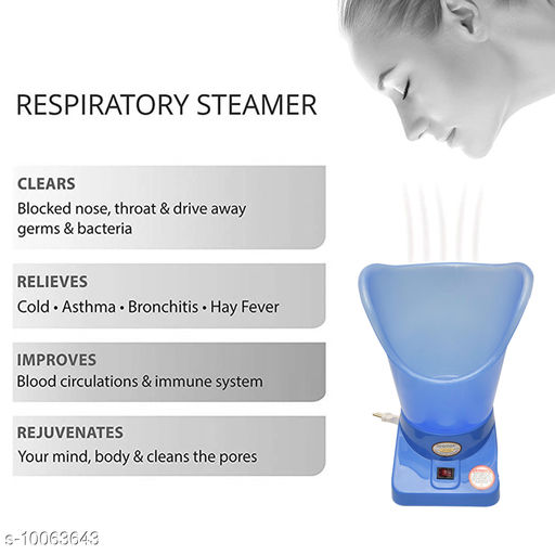 Personal Care & Grooming Saimax Respiratory Steamer Big Veporizer Professional Facial Steamer, 5W  *Product Name* Saimax Respiratory Steamer Big Veporizer Professional Facial Steamer, 5W  *Material* Plastic  *Multipack* 1  *Sizes Available* Free Size *    Catalog Name:  Advanced Relief Body Accessories CatalogID_1800717 C65-SC1233 Code: 897-10063643-