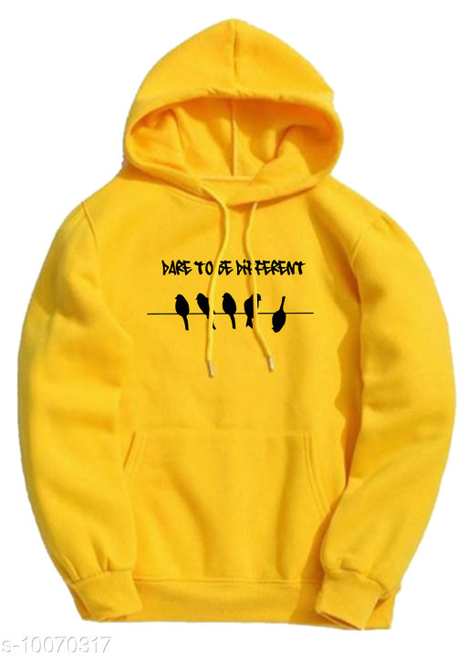DIFFERENT Printed Hooded Neck Sweatshirt for Men