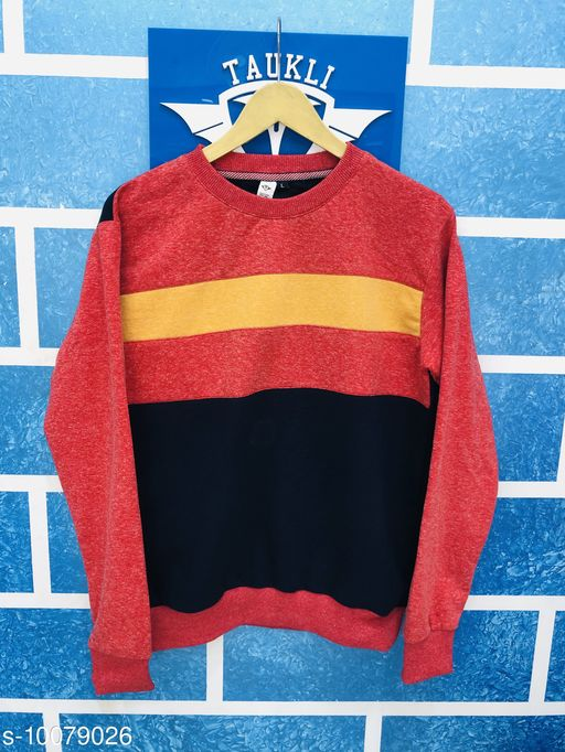 Sweatshirts sweatshirt trendy  *Fabric* Cotton  *Multipack* 1  *Sizes*   *L (Length Size* 29 in)  *Sizes Available* L *    Catalog Name: Classic Retro Men Sweatshirts CatalogID_1804917 C70-SC1207 Code: 646-10079026-