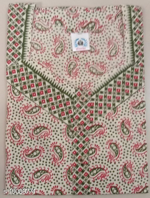 Nightdress Nightdress  *Fabric* Cotton  *Sizes*  XL  *Sizes Available* XL *    Catalog Name: Trendy Alluring Women Nightdresses CatalogID_1806100 C76-SC1044 Code: 803-10083774-