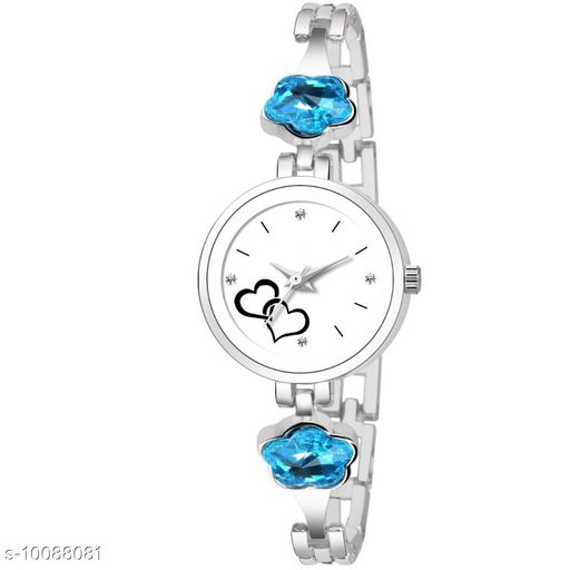Olberg Pearl blue diamond analog watch for girls and women