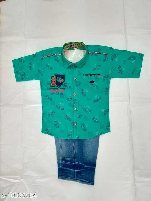 Jumpsuits SHIRT & TROWSER  *Fabric* Cotton  *Sizes*  2-3 Years  *Sizes Available* 2-3 Years *    Catalog Name: Princess Funky Boys Dungarees & Jumpsuits CatalogID_1808989 C62-SC1156 Code: 315-10095984-