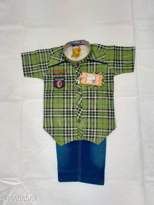 Jumpsuits SHIRT & TROWSER  *Fabric* Cotton  *Sizes*  2-3 Years  *Sizes Available* 2-3 Years *    Catalog Name: Princess Funky Boys Dungarees & Jumpsuits CatalogID_1808989 C62-SC1156 Code: 315-10095987-