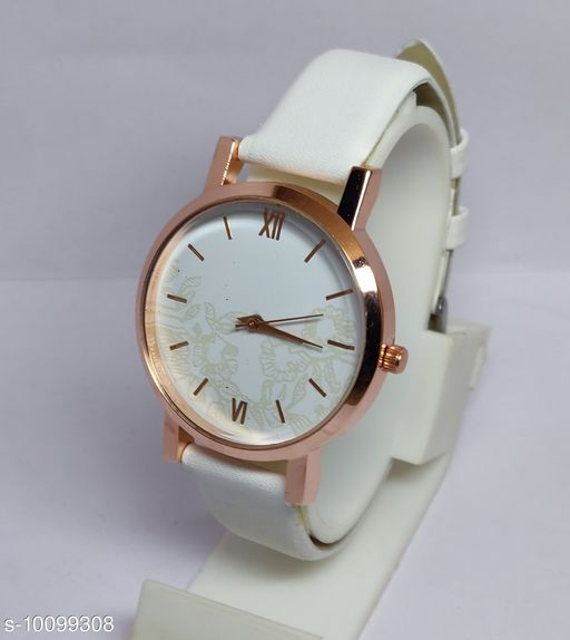 leather belt women's watch
