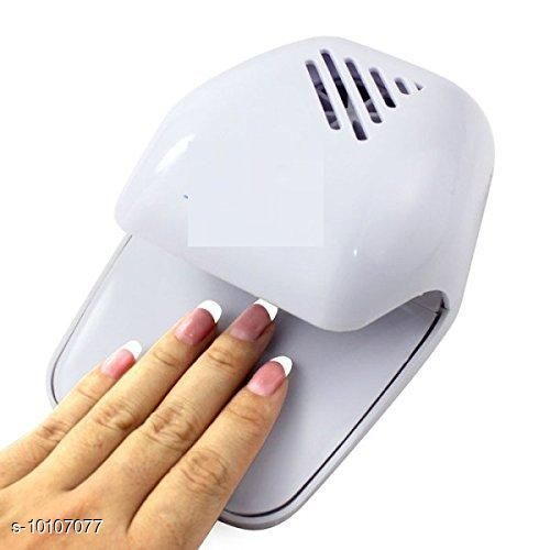Brand World Nail Polish Dryer Machine Kit | Portable Battery Operated Nail Dryer with Fan for Nail Polish, Nail Art(White) Pack of 1