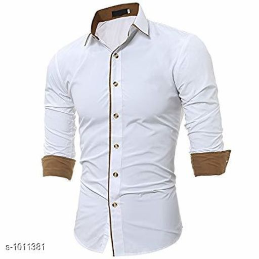 Shirts Fashionable Cotton Solid Shirt  *Fabric* Cotton  *Sleeves* Full Sleeves Are Included  *Size* S, M, L, XL, XXL (Refer Size Chart)  *Length* Refer Size Chart  *Fit* Slim Fit  *Type* Stitched  *Description* It Has 1 Piece of Men's Shirt  *Pattern* Solid  *Sizes Available* XXS, XS, S, M, L, XL, XXL, XXXL, 4XL, 5XL, 6XL, 7XL, 8XL, 9XL, 10XL, Free Size *    Catalog Name: Classico Mens Stylish Cotton Solid Shirts Vol 1 CatalogID_121677 C70-SC1206 Code: 494-1011381-