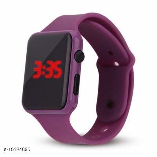 Digital led watch rubber type colour boys watch girls watch kids watch
